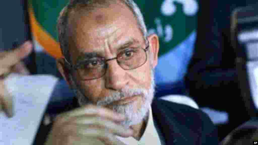 FILE -- Egypt's Muslim Brotherhood Mohammed Badie.
