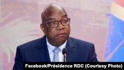 Vice-Premier ministre mpe ministre ya mambi ya kati ya mboka mpe ya maye matali bokoko, Gilbert Kankonde na 4e Conférence Nationale ya planification na Kinshasa, 3 décembre 2019. (Facebook/Présidence RDC)