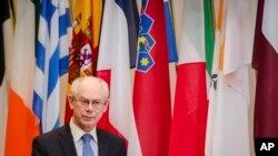 헤르만 반롬푀이 유럽 이사회 상임의장 (자료 사진)