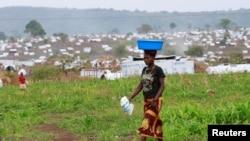 Mmoja ya kambi za wakimbizi inayoendeshwa na UNHCR iliyoko eneo la Kyangwali, Uganda, iliyopigwa picha Machi 20, 2018.