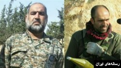 جهانگیری جعفری نیا راست و رضا رستمی مقدم چپ از نیروهای سپاه که روزهای اخیر در سوریه کشته شدند