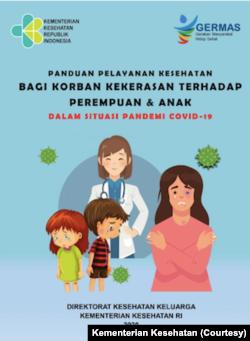 Poster Anti KDRT di masa Pandemi Covid-19 yang diterbitkan Kementerian Kesehatan.