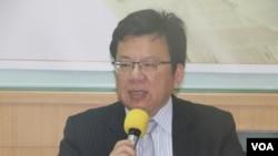 民进党立委李俊俋(美国之音杨明拍摄)