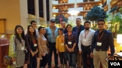 امریکہ کا دورہ کرنے والے پاکستانی صحافیوں کا گروپ