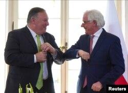 ABD Dışişleri Bakanı Mike Pompeo ve Polonya Dışişleri Bakanı Jacek Czaputowicz