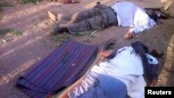 나이지리아 나싸라와에서 종교단체 소속 무장괴한으로부터 경찰이 습격을 받은 가운데, 7일 마이두구리에서 이슬람주의 무장 반군 보코하람에게 살해된 교도관들.