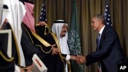 Le president Barack Obama salue le roi Salman Arabie Saoudite, Antalya, 16 novembre.