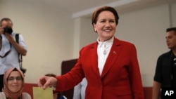 """Meral Akshener, """"IYI"""" partiyasi lideri"""