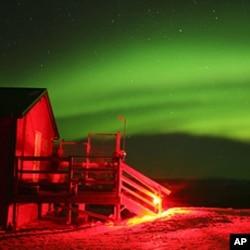 壮观的北极光