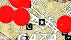 加沙地帶位置圖(資料圖片)
