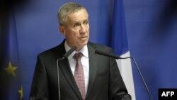 Trưởng công tố viên Paris Francois Molins phát biểu trong cuộc họp báo liên quan đến Ayoub El-Khazzani, nghi can trong vụ tấn công trên tàu cao tốc, ngày 25/8/2015.