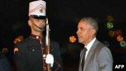 9일 바락 오바마 미국 대통령이 파나마 시티 토쿠맨국제공항에 도착했다.