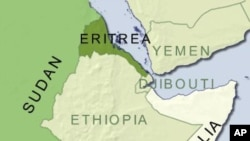 Eritrea is under UN sanctions for allegedly supporting hard line Somali Islamic insurgents.