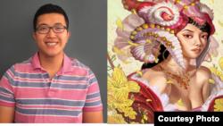 Anh Lê và tác phẩm Công chúa Nian. Photo by Anh Lê