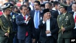 Tân Tổng thống Indonesia Joko Widodo và Phó Tổng thống Jusuf Kalla tại Jakarta, Indonesia, ngày 20/10/2014.