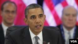 Presiden Barack Obama dalam pertemuan Trans-Pasific APEC di Honolulu, Hawaii (12/11).