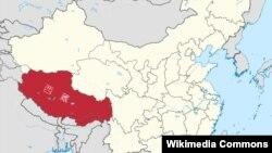西藏地理位置图