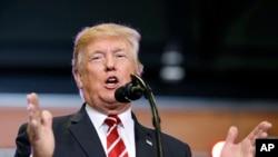 Le président Donald Trump, 22 août 2017