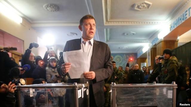 Лидер донецких боевиков Александр Захарченко