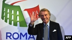 Luca Cordero di Montezemolo, Rome's bid chairman for the 2024 Olympics poses after the unveiling ceremony of Rome's logo on Dec. 14, 2015.