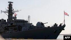 영국 해군 호위함 몬트로스호.