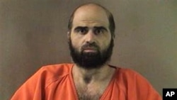 Undated file photo shows Army psychiatrist Maj. Nidal Hasan. A military jury has sentenced Hasan to death for the 2009 shooting rampage at Fort Hood that killed 13 people and wounded more than 30 others.