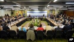 Los líderes del Mercosur se reunieron en el palacio de Itamaraty, en Brasilia.