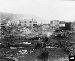 Johnstown, Pennsylvania after the Great Flood of 1889