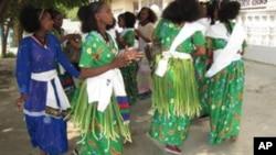 Girls Celebrate Ashenda Tradition
