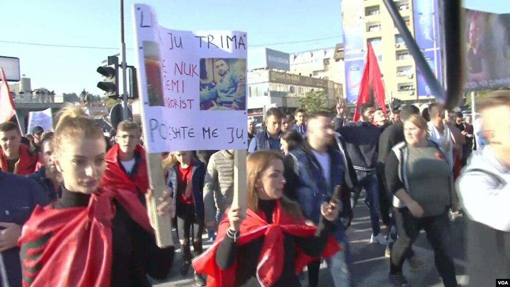 Protestë në Shkup kundër dënimeve nga gjykata