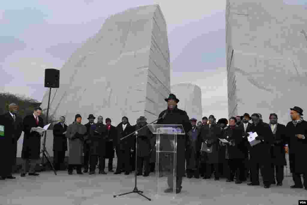 Выступает президент фонда Национального мемориала Мартина Лютера Кинга Гэри Джонсон