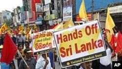 سری لنکا: مزوروں کے حق میں بودھ بھکشوؤں کا مظاہرہ