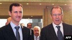 Suriya prezidenti Bashar al-Assad va Rossiya Tashqi ishlar vaziri Sergey Lavrov Damashqda, 7-fevral, 2012-yil