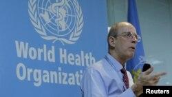 世界衛生組織中國擴大免疫規劃項目的蘭斯•羅德沃爾德博士3月29日在北京發表講話。