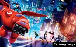 A scene from the movie 'Big Hero 6'