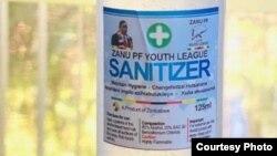 Zanu PF Youth are manufacturing sanitizers and masks to help fight coronavirus