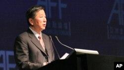 中国证监会主席尚福林今年1月在香港