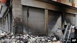 堆積在意大利那不勒斯的垃圾堆積如山。