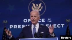 အေမရိကန္ ေရြးေကာက္ခံသမၼတ Joe Biden. (ဒီဇင္ဘာ ၂၂၊ ၂၀၂၀)