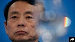 時任中石油董事長的蔣潔敏2010年3月25日在香港出席有關公司業績的記者會資料照。