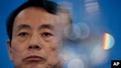 時任中石油董事長的蔣潔敏2010年3月25日在香港出席有關公司業績的記者會
