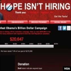 Republikanci na svojoj web stranici pozivaju na donacije kako bi porazili Obamu u novembru 2012