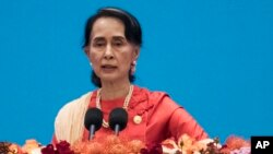 Lãnh đạo Myanmar Aung San Suu Kyi.
