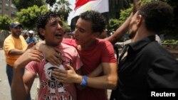 穆尔西的支持者抗议穆尔西被废黜