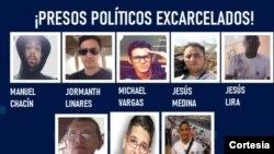 Entre los liberados están el reportero gráfico Jesús Medina Ezaine y Emilio Boulanger.