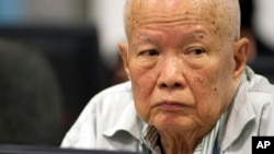 Bị cáo Khieu Samphan, cựu chủ tịch nhà nước Khmer Đỏ