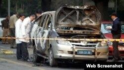 نئی دہلی میں بم دھماکے کانشانہ بننے والی اسرائیلی سفارت کار کی کار