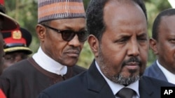 Shugaban Najeriya Muhammad Buhari da na Somalia Sheik Hassan Mahmud