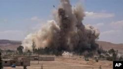 Una fábrica de coches bomba del grupo Estado islámico parece haber sido destruída en un bombardeo de la coalición.