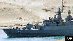 Tàu chiến Iran tiến vào cổng phía nam của kênh đào Suez lúc 5 giờ 45 phút sáng giờ địa phương, ngày 22/2/2011